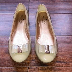 Kate Spade Patent Leather Bow Flats